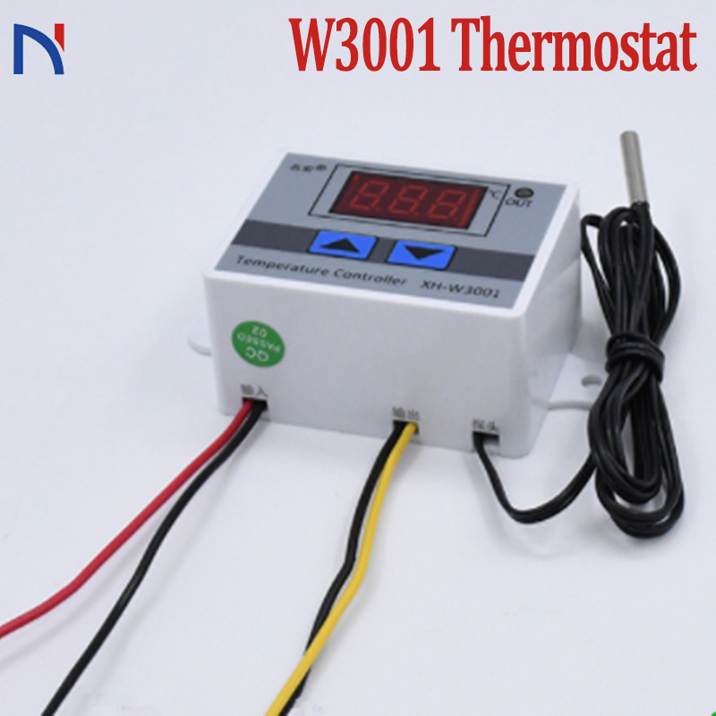 <font><b>XH</b></font>-<font><b>W3001</b></font> W3001Temperature Controller Digital Led Microcomputer Switch Thermometer Thermoregulator 12V 24V 220V <font><b>W3001</b></font> Thermostat image