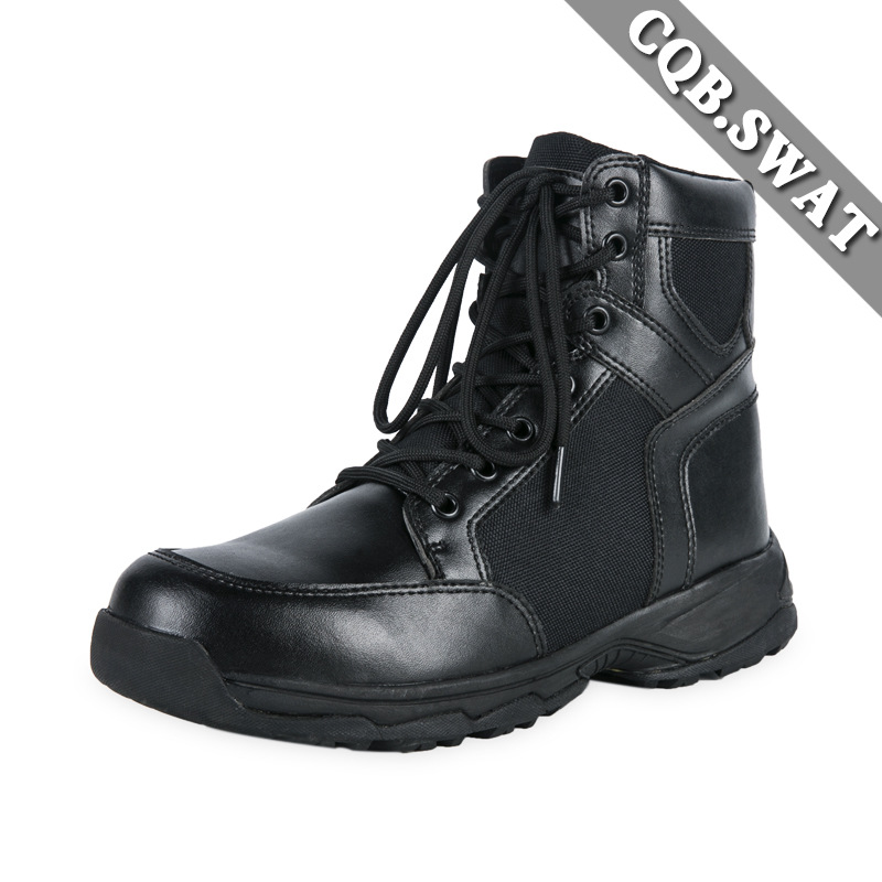 Ultra-Light Combat Boots CQB. Swat Xiaohu Lightweight Combat Boots Shock Absorption Hight-top Outdoor Tactical Boots Combat Boot