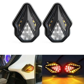 1 Pair Motorcycle Fairing LED Turn Signal Lights Flash Warning DC12V DRL Flow Lights Blinker for BMW F800GS R1200GS F650 image
