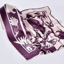 Hangzhou Silk Square Scarf Neckerchief 65*65cm Silk Kerchief Wraps for Ladies Printed Bandana 100% Real Silk Square Neck Scarves