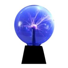 8-Inch Plasma Ball Light Static Night Magic Contact Sound Sensitive Glass Us Plug