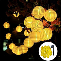 3.5m 5m 6.5m güneş fener LED peri ışıkları Garland 10/20/30 LED dize işık açık bahçe düğün tatil parti dekor ışıkları