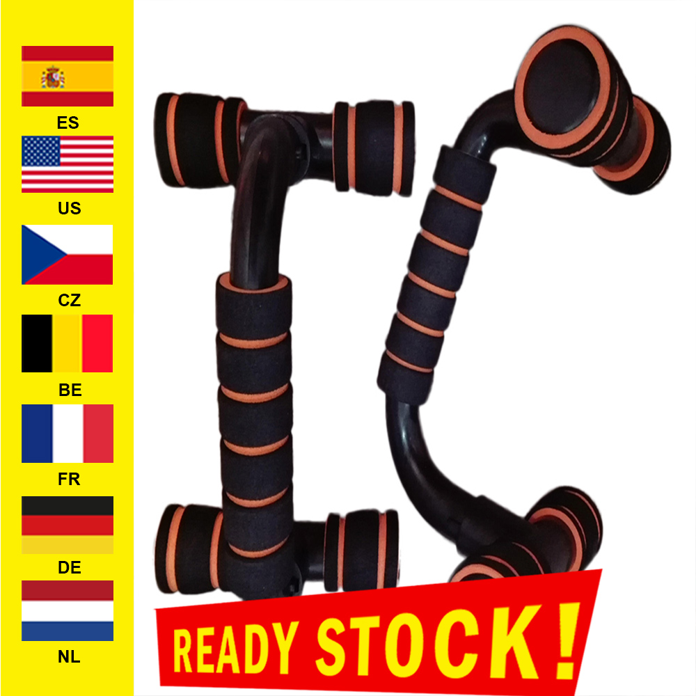 2pcs H I-shaped ABS Fitness Push Up Bar Push-Ups Stands Bars Tool  Fitness Chest Training Exercise Sponge Hand Grip Trainer New