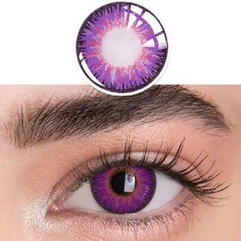 1pair(2pcs) 1 Year Cosplay Sharingan Contact Lenses for Eyes Colored Red Uchiha Sasuke Hatake Kakashi Anime Accessories - 12