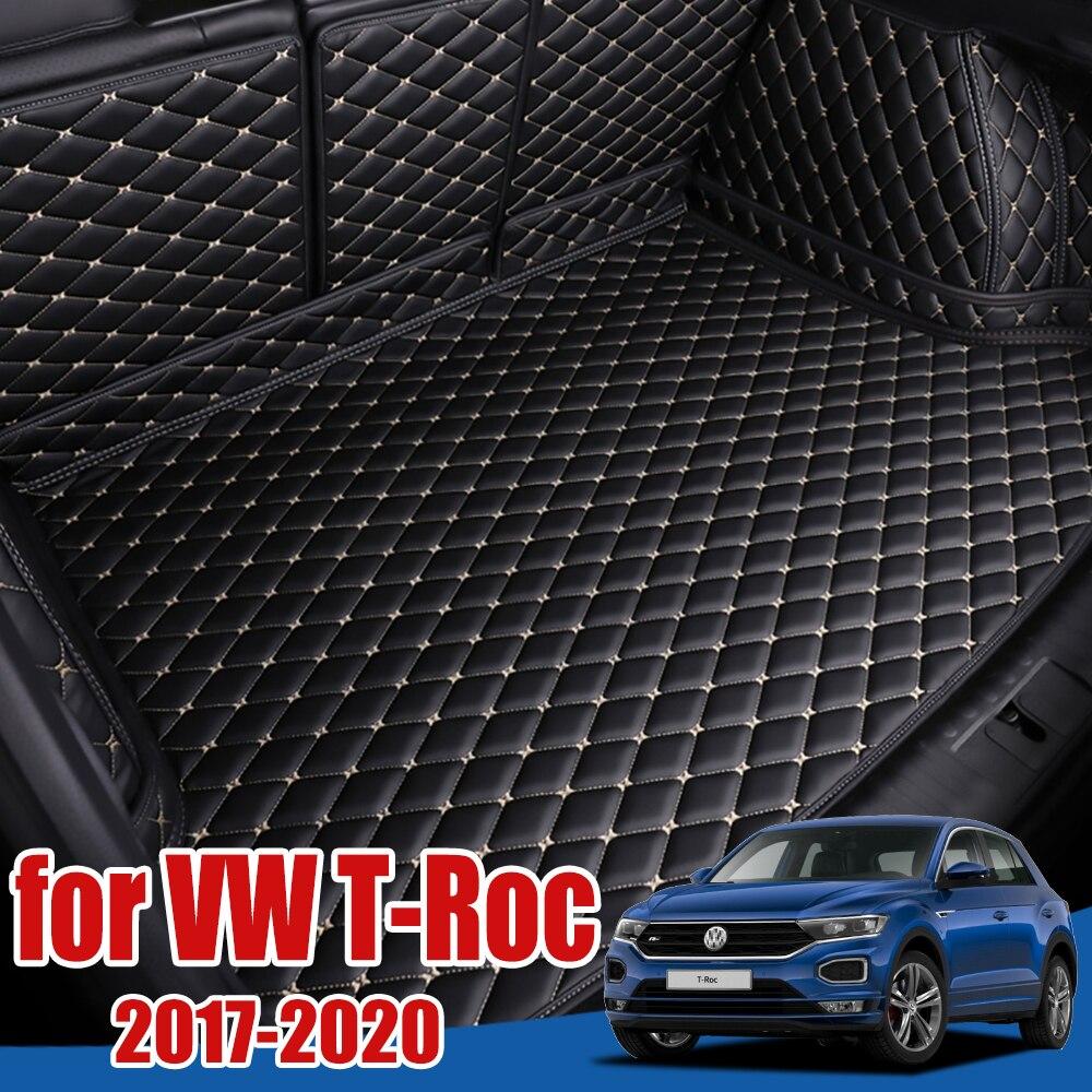 Protection de plancher de plateau de botte de voiture pour Volkswagen VW t-roc 2017 2018 2019 2020 revêtement de cargaison TRoc T Roc tapis de botte automatique spécial personnalisé