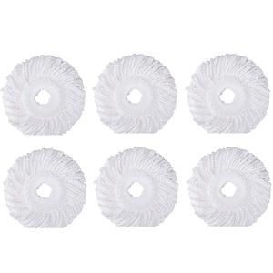 6 шт 360 ° вращающаяся Швабра Сменная головка, круглая форма микрофибра стандартный размер Швабра головка пополнения для урагана Mopnado