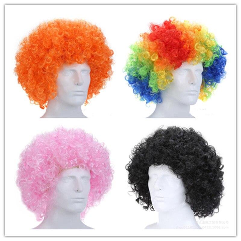 Фанаты, товары вечерние, праздничный цветной парик клоуна афро