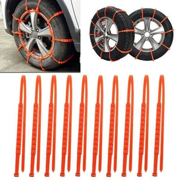 Lcyonger 1PCS Car Anti-skid Wheels Tyre Tire Snow Ice Chains For Winter Snow Mud Car Truck Cable Ties Safe Car Accessories image