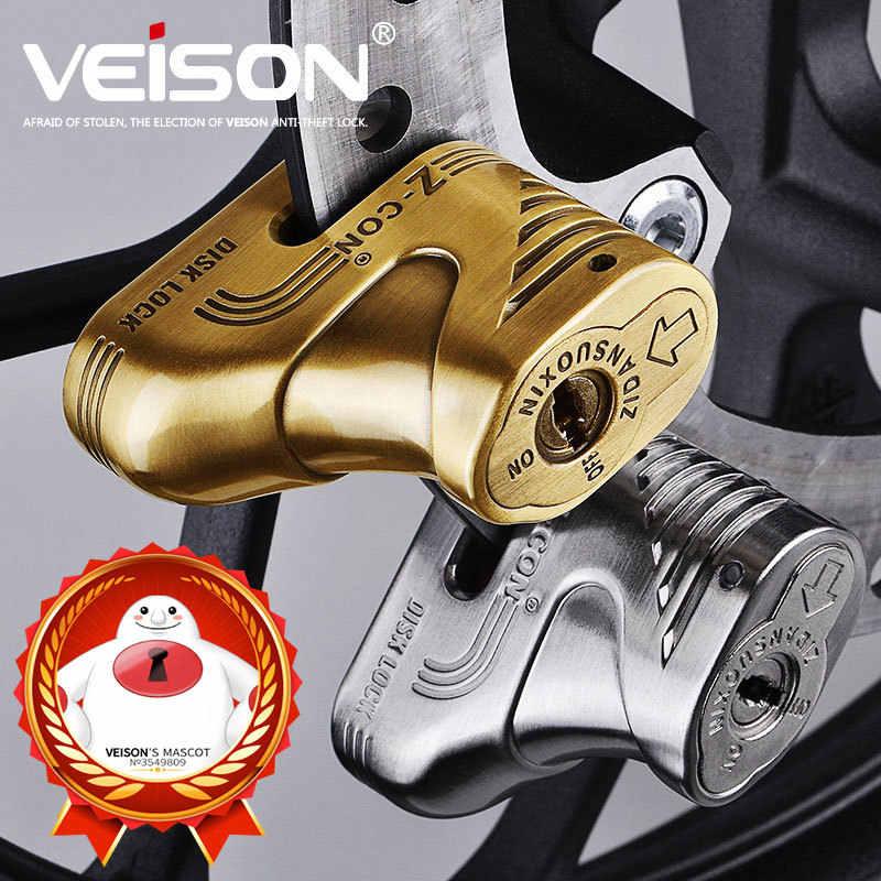 VEISON Moto Bersepeda Alarm Tahan Air Moto Alarm Kunci Sepeda Keamanan Anti-Theft Lock Moto Rem Cakram Scooter Alarm 2 Warna