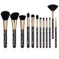 Набор кистей для макияжа Docolor, 12 шт., тени для век, Тональная основа, пудра, румяна, смешивание, Кисть для макияжа, косметический набор инструм...