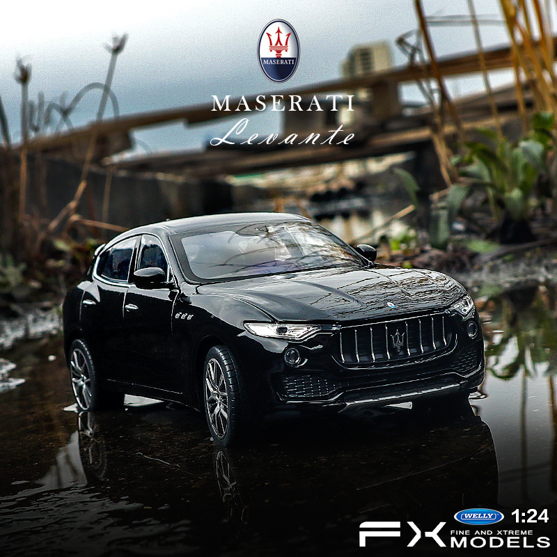 Welly 1:24 Levante Maserati  Car Alloy Car Model Simulation Car Decoration Collection Gift Toy Die Casting Model Boy Toy