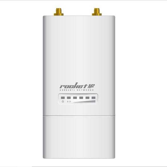 Ubiquiti RocketM2 CPE 2.4GHz Hi Power 2x2 MIMO TDMA AirMAX Rocket M2 BaseStation Wireless Network Bridge 50+km 150+Mbps