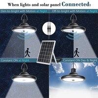 Luz Solar para exteriores mejorada, 8800mAh, doble cabeza, 112 LED, Sensor de movimiento, a prueba de agua, luz de cobertizo Solar para patio, jardín y garaje