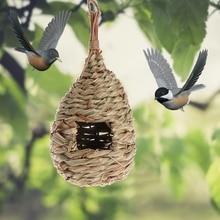 Птичье гнездо из натуральной травы, птичье гнездо, птичья клетка для дома, украшение для двора, маленькая птичья клетка, птичье яйцо, контейнер для разведения, гнездо