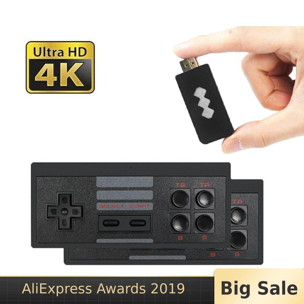 4K Wireless Console Game Stick Video Game Console Built in 568 Classic Game 8 Bit Mini Retro Controller HDMI Output Dual Player