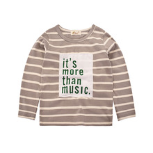 Kids Baby Boys Girls T-shirt Infant Toddler Long Sleeve Striped Cotton Tops Shirt Children Unisex Spring Autumn Girls Tops недорого