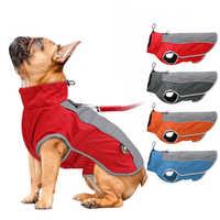Roupas para cães de estimação à prova dwaterproof água roupas para cães grandes outono inverno quente grandes jaquetas para cães ao ar livre esporte colete