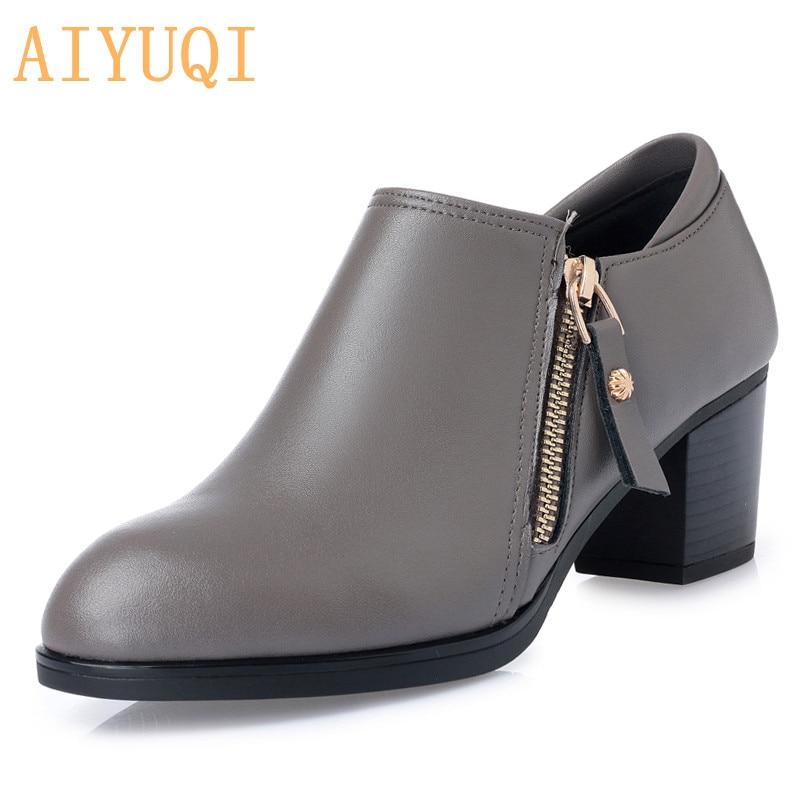 AIYUQI Plus size 35 43 Spring women s shoes 2019 genuine leather women shoes fashion Hole