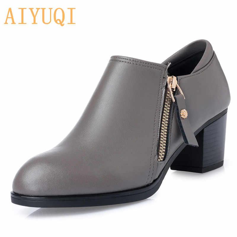 AIYUQI artı boyutu 35-43 # bahar kadın ayakkabısı 2020 hakiki deri kadın ayakkabı moda delik ayakkabı rahat tek ayakkabı kadın