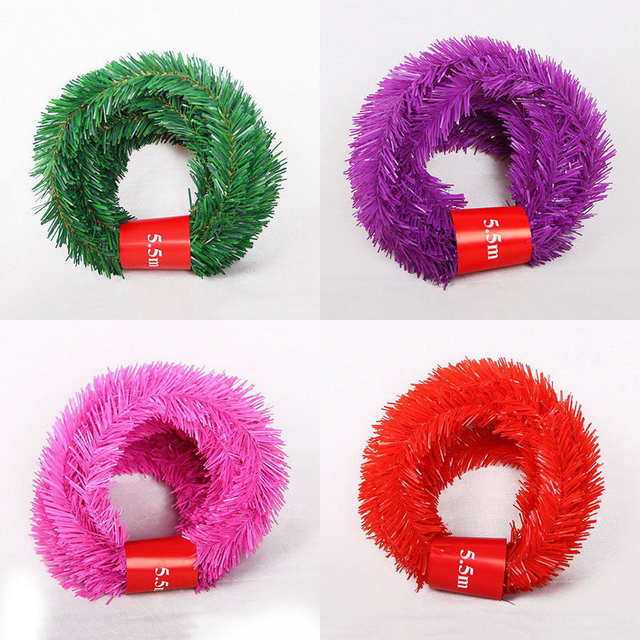Image 2 - 5.5M Festive Party Rattan DIY Wreath Christmas Decoration Garland XMAS Party Drop Ornament 2020 Christmas Decorations For Home-in Pendant & Drop Ornaments from Home & Garden