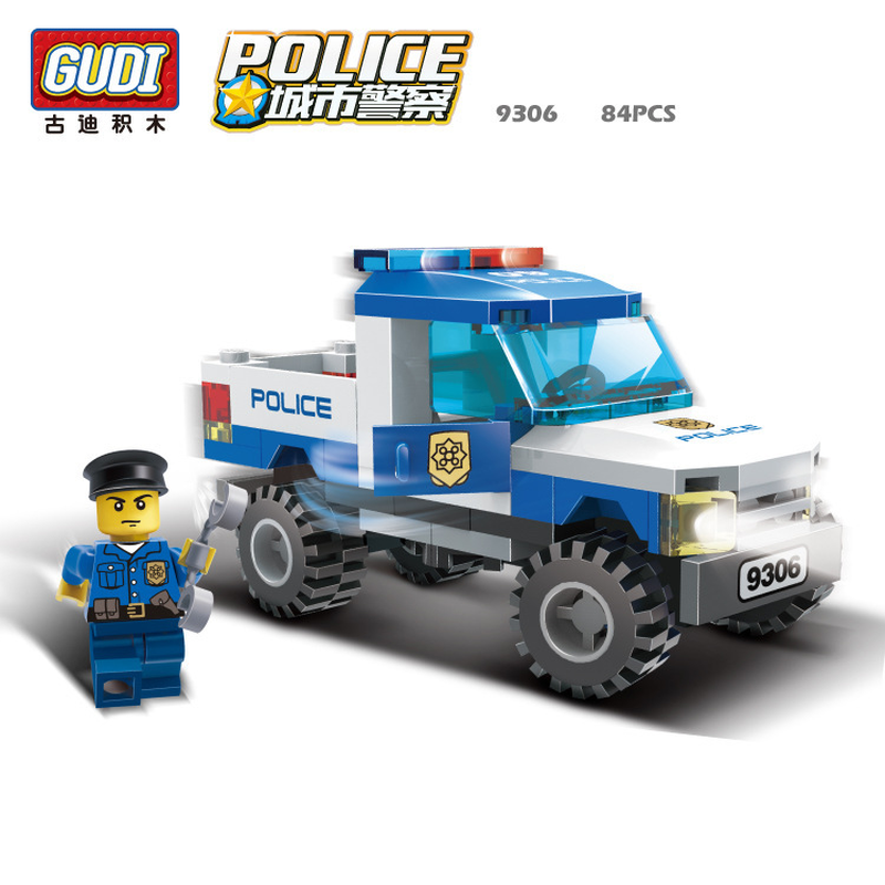 9306 84pcs SWAT/Police Constructor Model Kit Blocks Compatible Bricks Toys For Boys Girl Children Modeling Compatible Legoinglys
