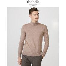 AUSGEWÄHLT Männer der Winter 100% Wolle hochgeschlossenen Stricken Pullover E   419424535
