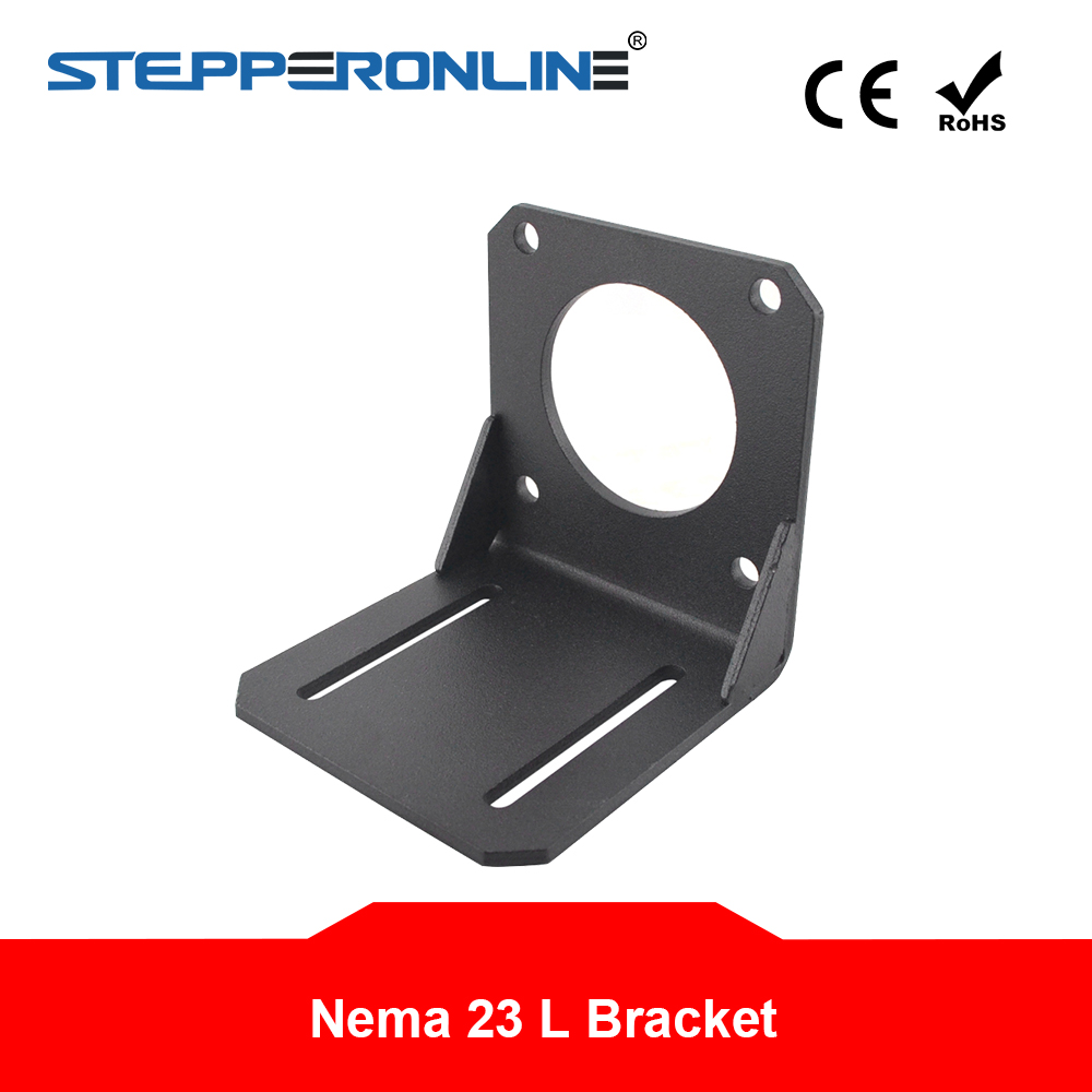 <font><b>Nema</b></font> <font><b>23</b></font> Mounting L <font><b>Bracket</b></font> for High Precision Planetary Geared Motor Alloy Steel 57 Stepper Motor <font><b>Bracket</b></font> for CNC 3D Printer image