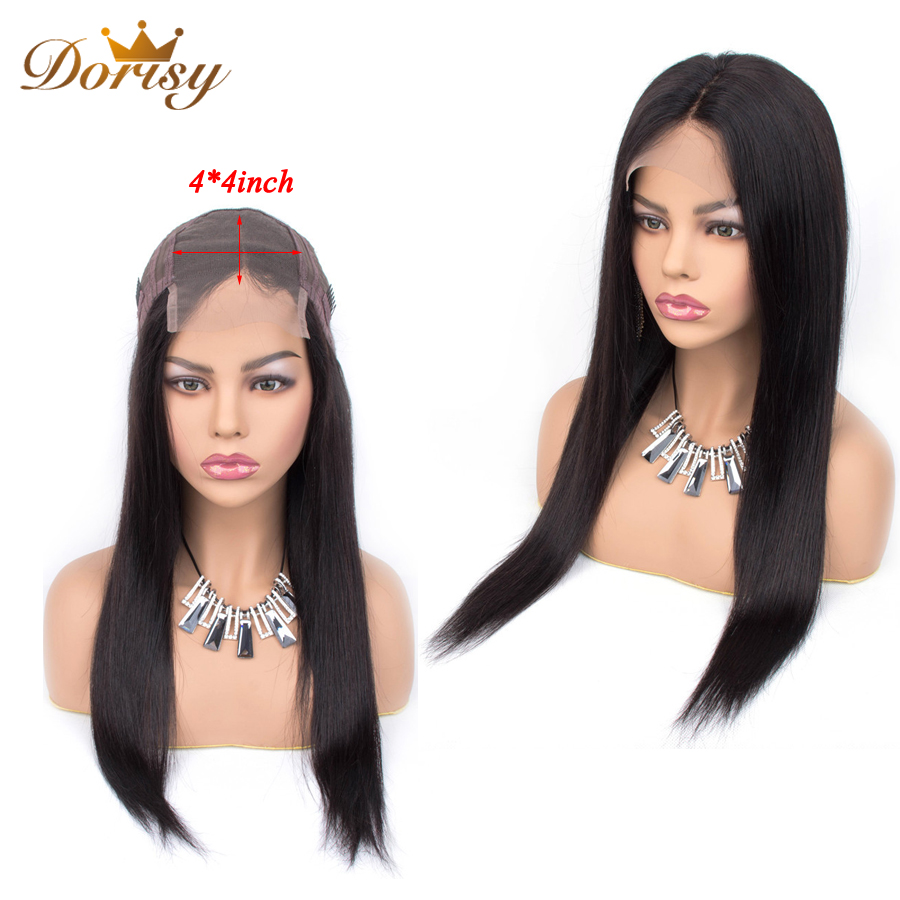 Lace Closure Wig Human Hair Wigs 4×4 Lace Closure Wig For Black Women Straight Human Hair Non Remy Brazilian Wigs