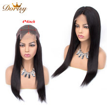 Lace Closure Wig Human Hair Wigs 4×4 For Black Women Straight Non Remy Brazilian