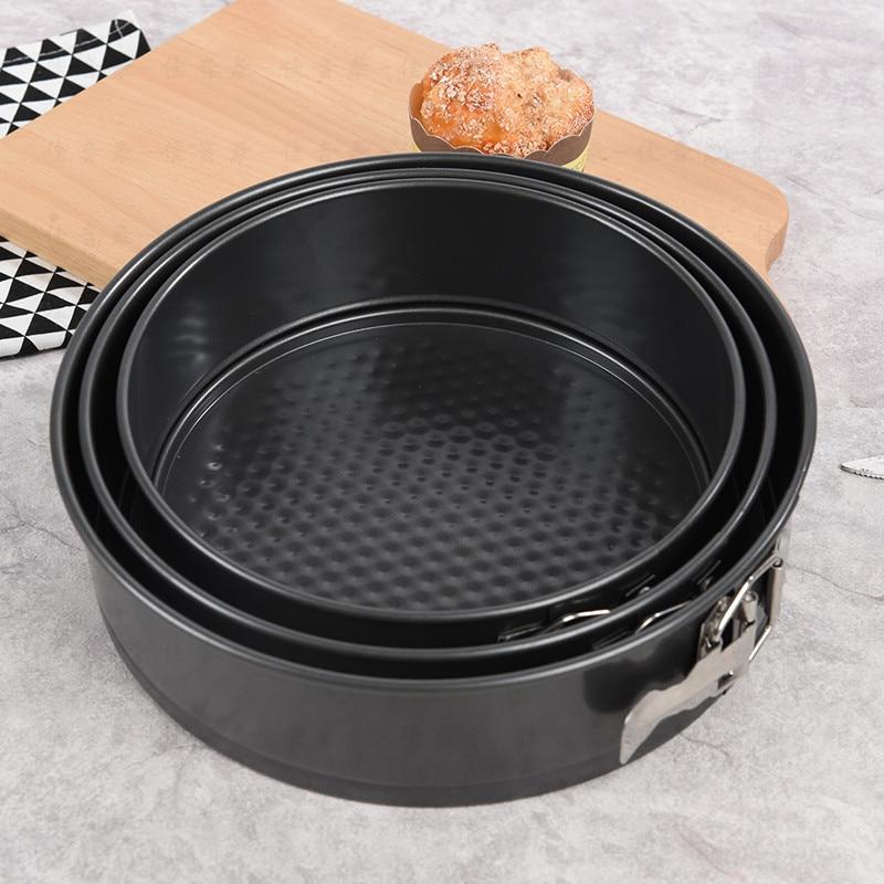 Carbon Steel Non stick Cake Baking Pan Loose Base Round Shape Baking Mold Bakeware Cake Baking Moulds Kitchen Tools|  - title=