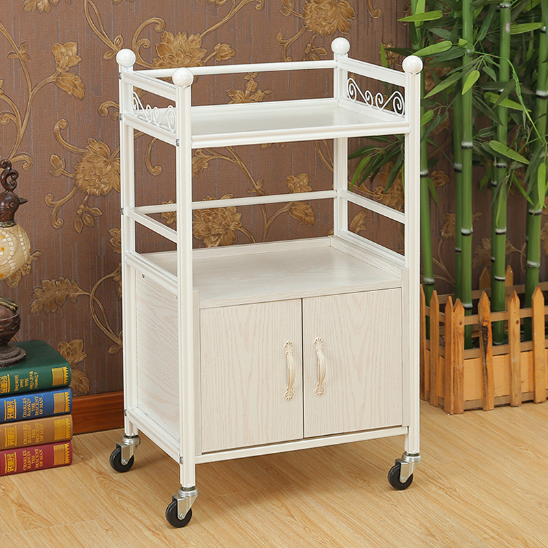 Beauty Cart Three-tier With Drawer Beauty Salon Trolleys Hairdressing Tools Car Nail Racks Medical Trolley