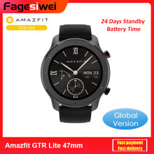Global Versie Amazfit Gtr Lite 47 Mm Smartwatch 24 Dagen Batterij 5ATM Waterdicht Smart Horloge Amoled Screen Voor Xiaomi Android ios(China)