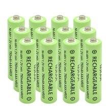 12Pcs AAA(Not AA) Rechargeable Battery High Performance 1.2V 750mAh Ni-MH AAA Batteries