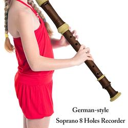 German-style 8 Holes Recorder Soprano Clarinet Chinese Vertical Dizi ABS Resin Plating Wood Grain Flute C Key Music Instrument