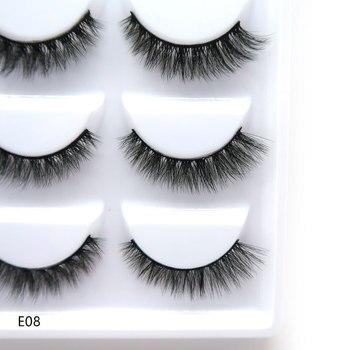 LTWEGO NEW 5Pairs 3D Faux Mink Eyelashes Natural Thick Long False Eyelash Dramatic Fake Lashes Makeup Extension Eyelashes Cilio 1