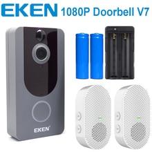 EKEN V7 1080P Wifi Wireless Video Dorbell Visual Intercom Camera With Chime Night Vision PIR Motion Detection APP Control