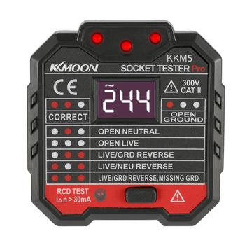 KKmoon KKM5 cyfrowy wykrywacz gniazd przenośny tester napięcia biegunowości obwodu ściennego wykrywacz wyłącznika ściennego test rcd tanie i dobre opinie Socket Tester