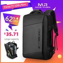 Mark Ryden 17 inch Laptop Backpack Raincoat Male Bag USB Recharging Multi layer Space Travel Male Bag Anti thief Mochila
