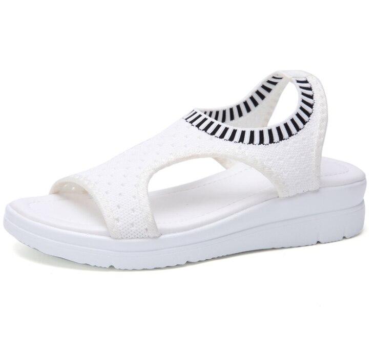 Kadın sandalet 2019 yeni kadın ayakkabısı kadın yaz kama rahat sandalet bayanlar Slip-on düz sandalet kadın Sandalias