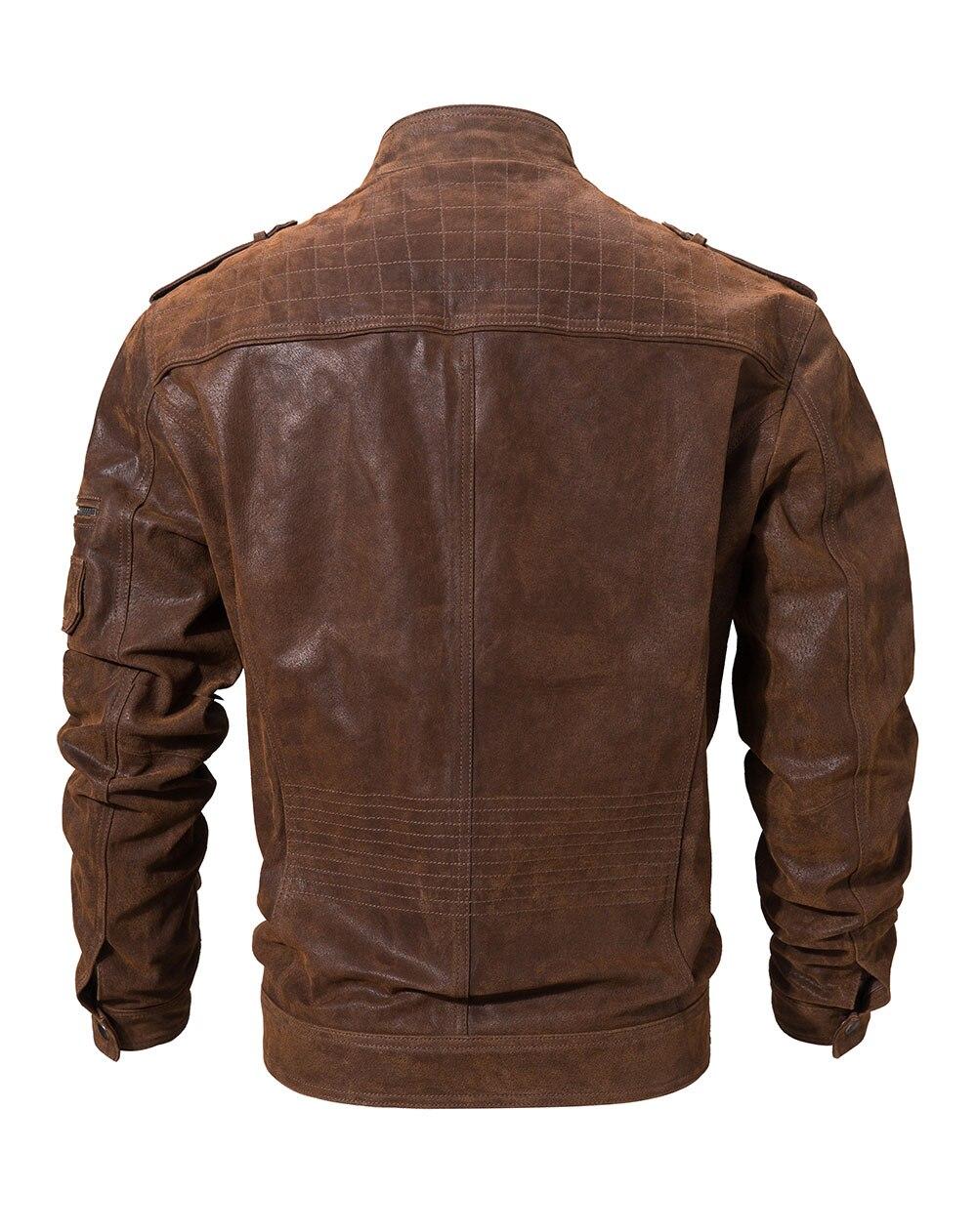 H3cc004c07a3247c48e454dbb92f23d1d2 Men's Pigskin Real Leather Jacket Genuine Leather Jackets Motorcycle Jacket Coat Men