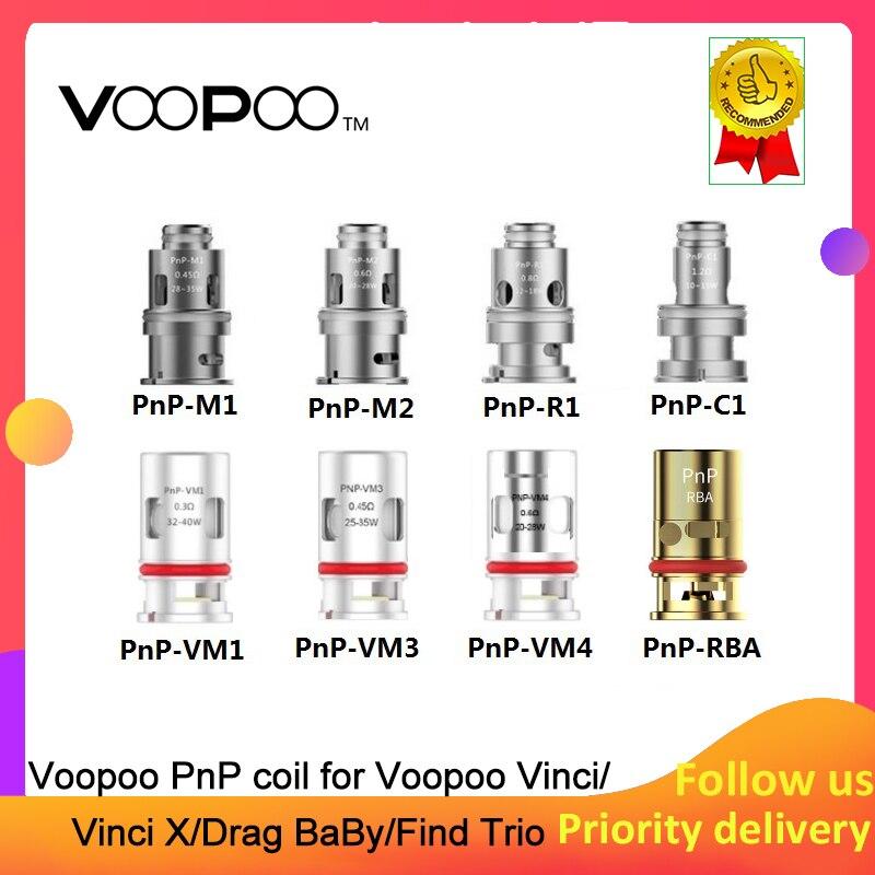 Voopoo PnP Replacement Vape Coil Head Voopoo PnP-C1 Pnp-M2 PnP-R1 PnP VM1 PnP-M1 Suit For Voopoo Drag Baby VooPoo Find S Trio