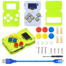 Keyestudio GAMEPI ATMEGA32U4 zestaw DIY HandheldCon W/OLED automat do gier konsola Starter zestaw do Arduino kompatybilny z ARDUBOY