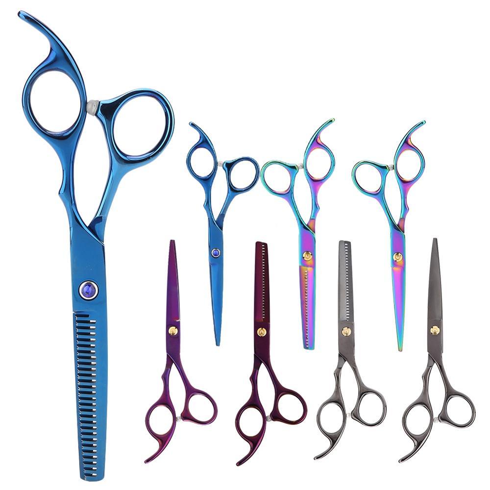 Ножницы для стрижки волос из нержавеющей стали, набор инструментов для укладки, ножницы для филировки, парикмахерские ножницы, Профессиона...