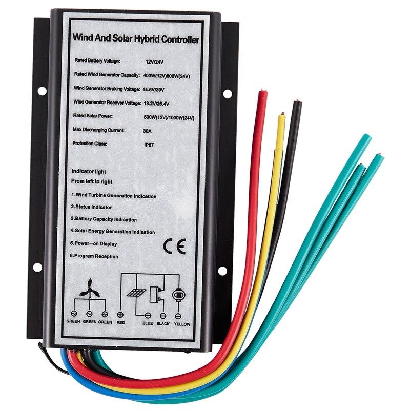 Automatic Identification 12V/24V Wind Generator Charging Controller Wind Turbine Regulator Charging Controller Waterproof IP67