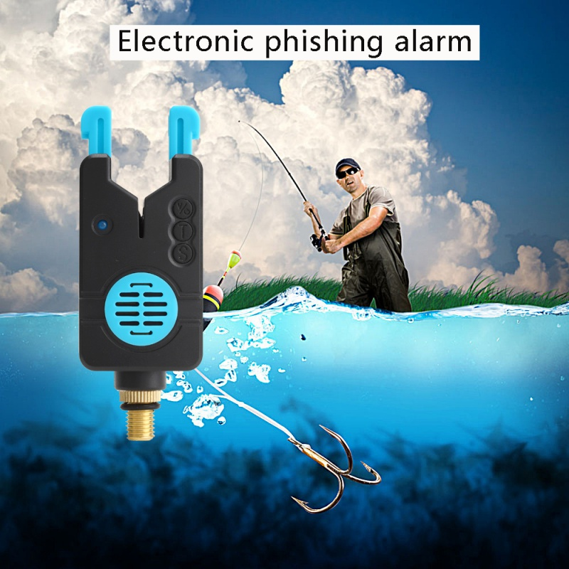 Spor ve Eğlence'ten Balıkçılık Araçları'de Balıkçılık Bite alarmları balıkçılık alıcısı ses uyarısı LED Alarm göstergesi balıkçılık atma çubuk sazan title=