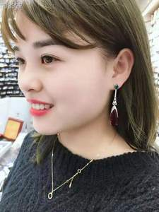 Image 5 - Xiumeiyizu Waterdrop Gradient Tourmaline Bông Tai Hạt Pha Lê Zirconia Đính Bông Tai Dài Dành Cho Nữ Trang Sức Nóng