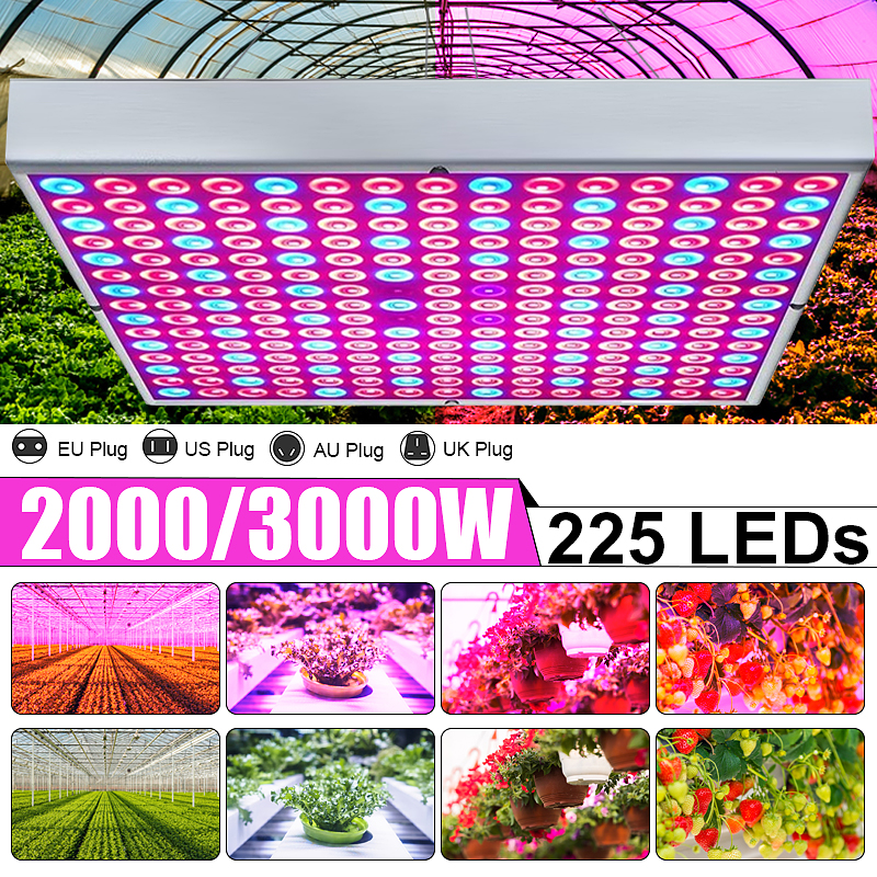 Growing Lamps 225 LED Grow Light AC85-265V Full Spectrum Plant Lighting Fitolampy For Plants Flowers Seedling Cultivation