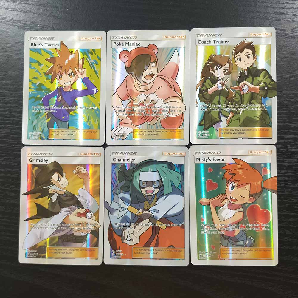 TAKARA TOMY Pokemon Cards Collections Battle Shining 100 Tag Team Card Deck Children Toys Flash Card Table Game 94 GX 6 Trainer