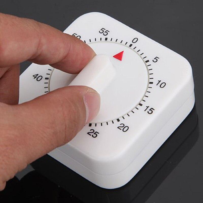 Temporizador de cocina de 60 minutos con alarma de plástico ajustable temporizador de huevo mecánico para cocinar horneado recordatorio de Chef Minuteur Cuisine