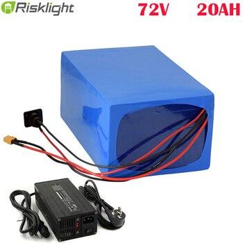 Batería eléctrica para bicicleta eléctrica 72v, 3000W, 72v, 20Ah, estilo DIY, batería...